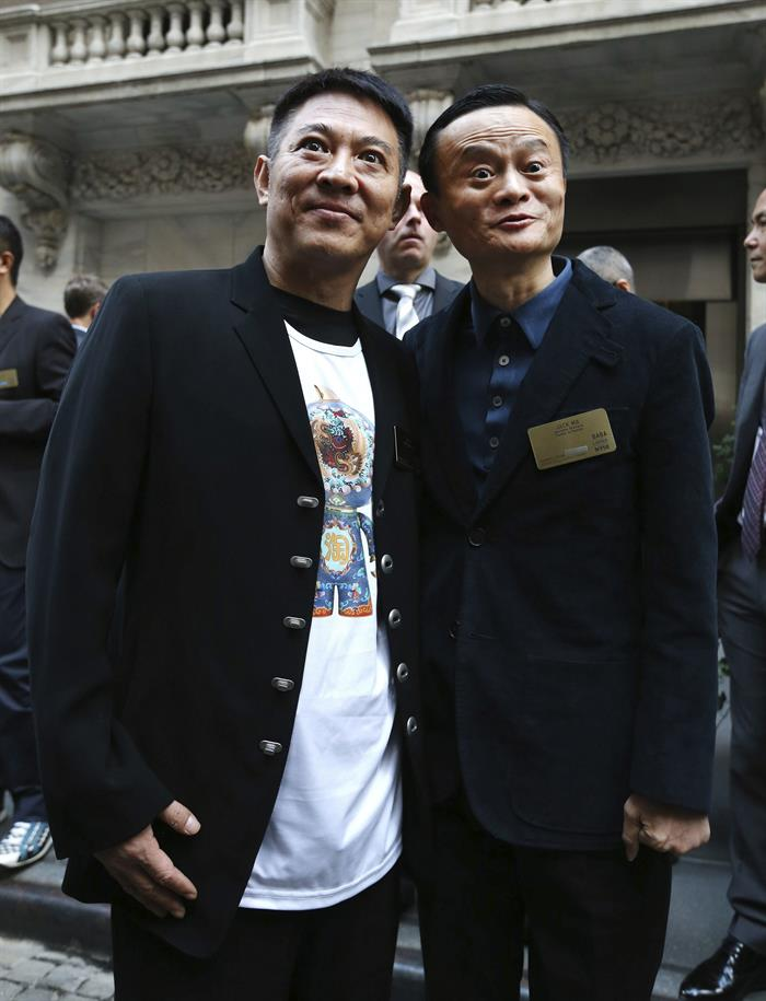 The actor Jet Li and the tycoon Jack Ma join to take the taichi to the Olympic Games
