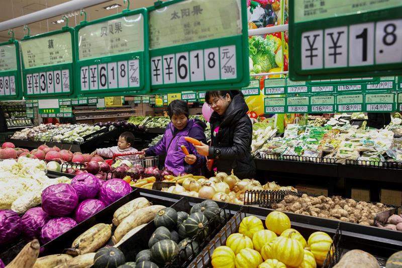 Chinese inflation rises three tenths in October, up 1.9% year-on-year